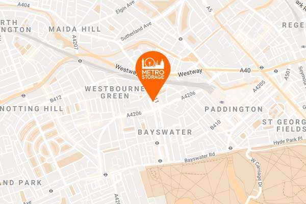 Self Storage Map Bayswater