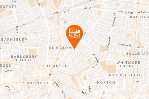 Self Storage Map Islington