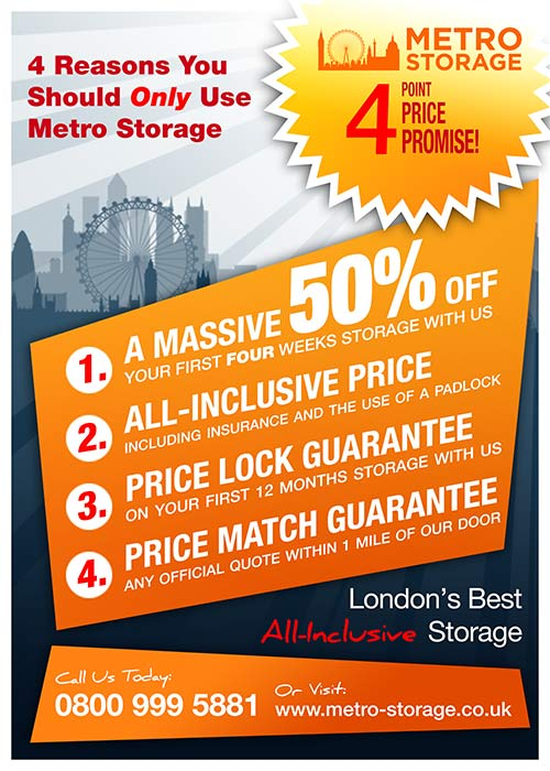 Metro Storage Price Promise