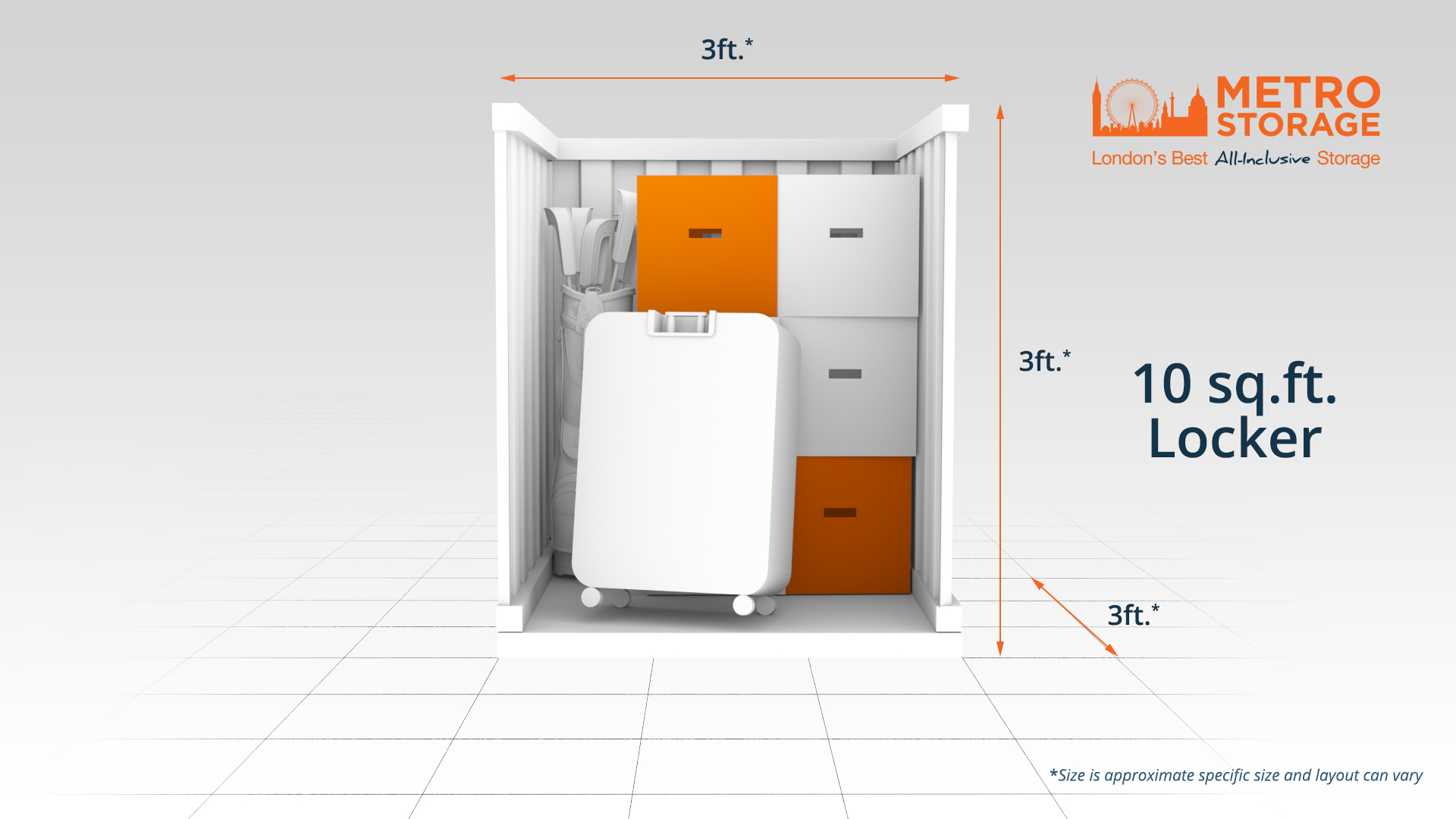 10 sq.ft. locker London Self Storage
