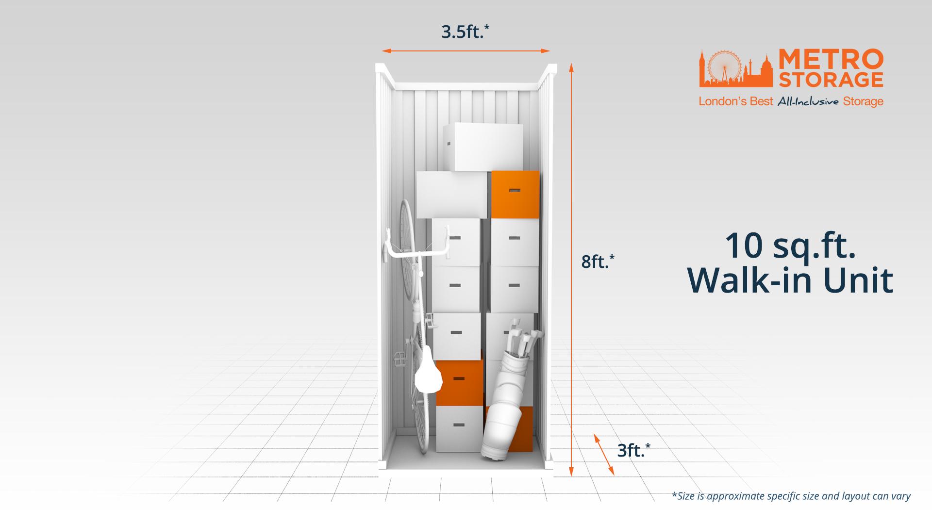Metro Storage Walkin Unit 10ft sq